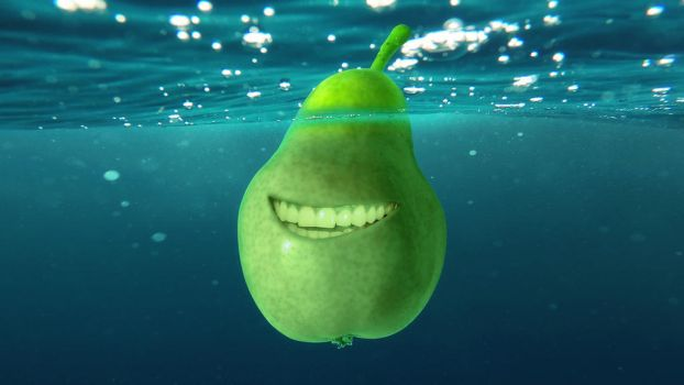 Underwater biting pear photomanipulation by lextragon