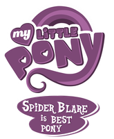 Commission MLP OC Logo - Spider Blare is Best Pony by MLPBlueRay