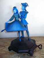 Music Box Couple Papercraft by Sabi996