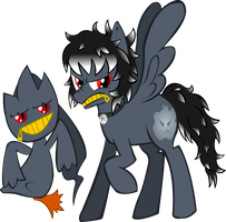 banette and pony by cacopony