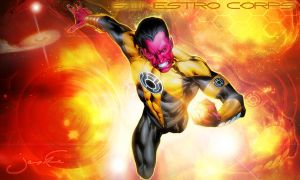Sinestro Wallpaper Actual Size by CoKra