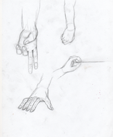 Practice Hand Drawings 2 by FoxFever101