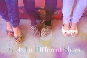girls in deffrent shoes by flocska