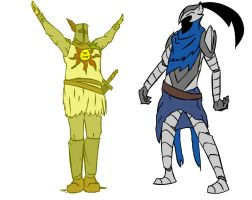 Artorias and Solaire by harrison2142