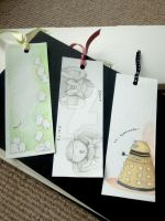 Doctor Who villains bookmarks by Feliks-Grell