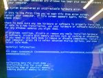 the dreaded blue screen of death HELP!!! by Tails-and-Cosmo
