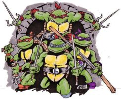 turtle power by Rottinggiant