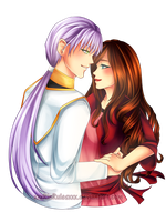 C: Fane x Emilia Waist-Up Couple by xxxRinRulesxxx