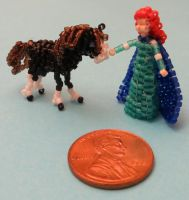Beaded Merida and Angus from Brave by Anabiyeni