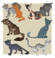 A handful of Warrior Designs by Finchwing