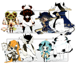 [OPEN] FREE ADOPT RAFFLE 16 - Shadowmonsters by Piffi-adoptables