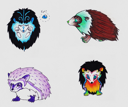 Hedgehog Adoptables by Silverexorcist