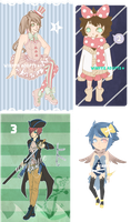 4 Adoptable GIVEAWAY [WINNERS ANNOUNCED] by winryie-adopts