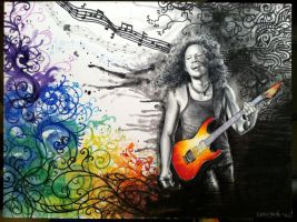 Kirk Hammett by CallieFink