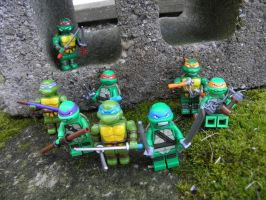 Mega Lego Turtles by KickoBang