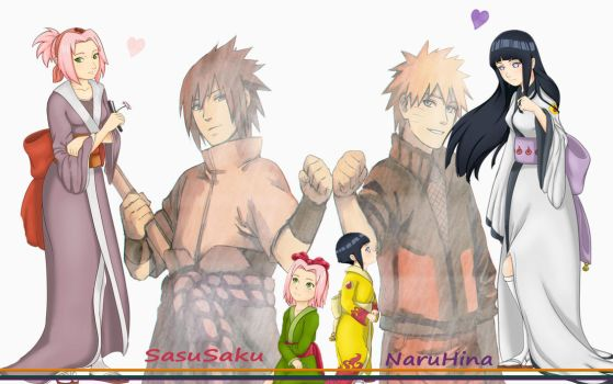 SasuSaku and NaruHina by ng9
