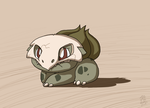 A Leaf from Cubone's Book - Bulbasaur by DragonwolfRooke