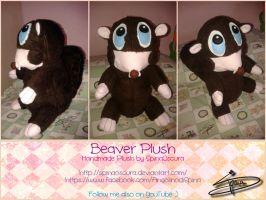 Handmade Beaver Plush by SpinaOscura