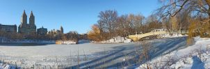 Panorama Central Park the Lake by KS85
