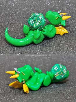 Toxic Green Dice Guardian by HowManyDragons