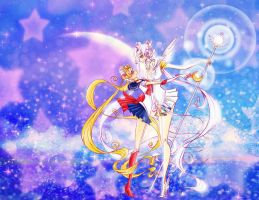 Moon and Cosmos by Prince-Zaire
