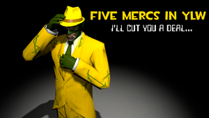 Five Mercs In YLW--A FNAF Fangame by mamaluigithedonutgal