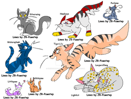 Warrior Cats adoptable CHEAP by Unstoppablekitty-kat