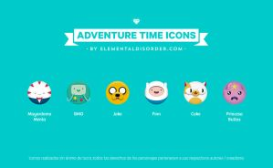 Adventure time icons by Elemental Disorder by Rubmontava