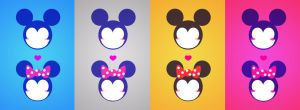 Minnie Mickey Love by AFineFrenzy