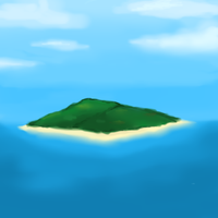Island Painting by Infernape77