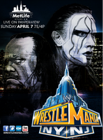 WWE Wrestlemania 29 Poster Sting Vs The Undertaker by LockdownGFX