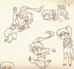 Kouga Chibi Sketches by happygurl4evr