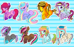 Pony adoptables batch #4. by Sweet-Forest-Adopts
