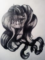 [MLP] Nightmare Rarity by Amberpon3