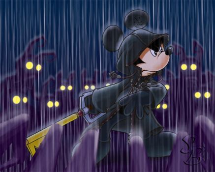 Mickey in Trouble by BW-Straybullet