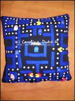 Pacman Pillow by Initta