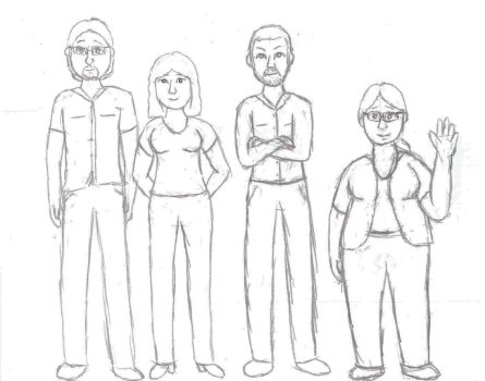 Coworkers sketch by Klopford