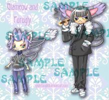 Glameow Purugly Adopt Set by spiderliing666