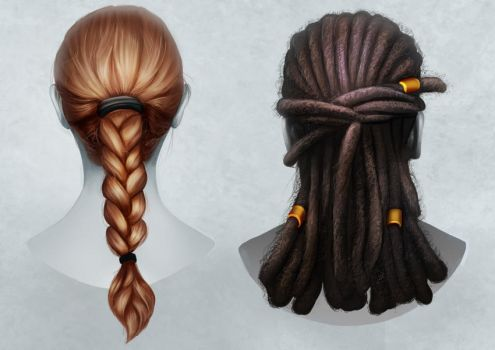 How to Paint Braids and Locs by MelodyNieves