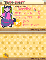 PKMN-Crossing : Berribelle by DaMee-Momma