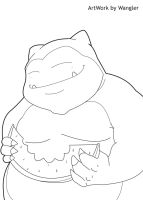 N143 Snorlax lines by Wangler