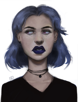 Blue witch by Herssian