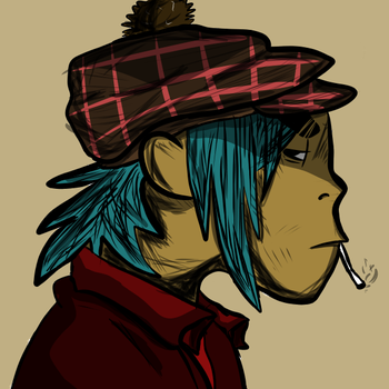 2d3 Gorillaz 2d by Moonlikestea