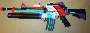 Borderlands 2 Style Assault Rifle by sugarpoultry