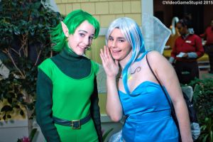 Katsucon 2015 - Saria and Fairy by VideoGameStupid