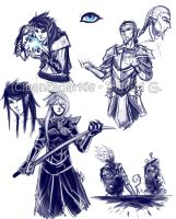 Some Skyrim Sketches by PanzerTheTank