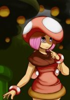 Toadette is lost in the forest by elazuls-core