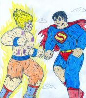 Superman vs Goku by Jose-Ramiro