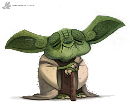Daily Painting 877. Yoda by Cryptid-Creations