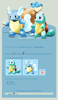Squirtle and Evos Journal Skin by Metterschlingel